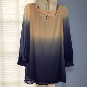 Toni size M dress light beige/navy ombré